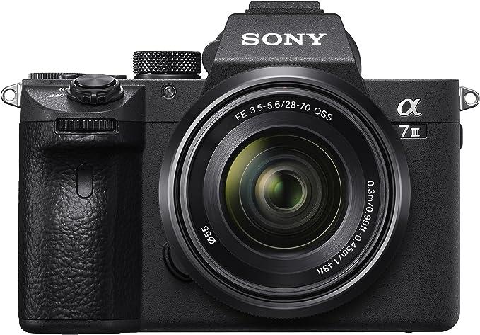 Sony Alpha 7III ILCE7M3/A7M3, Appareil Photo Hybride Numérique Plein Format, Kit A7M3K, Boîtier nu + Objectif 28-70 mm