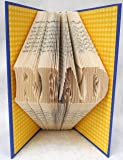 Hand Folded Book Art Sculpture, READ, Handcrafted