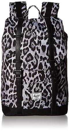Herschel Retreat Mid-Volume Backpack Snow Leopard Black One Size