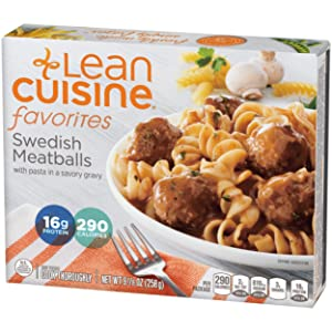 Lean Cuisine Favorites Swedish Meatballs - Frozen Meal with 16g of Protein and No Artificial Flavors, Delicious Frozen Meal, Ready in Minutes (9.125 oz.)