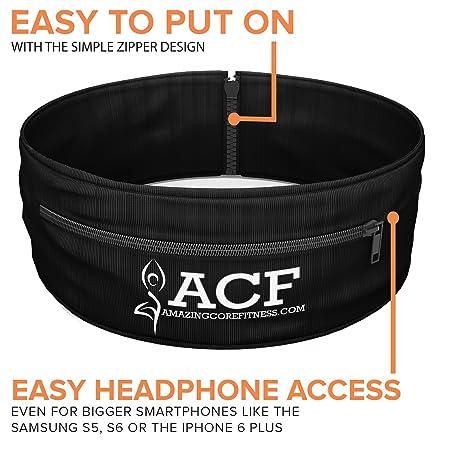 ACF Cinturón para Correr Fitness Cinturón W/multi-access Aberturas de bolsillo: Amazon.es: Deportes y aire libre