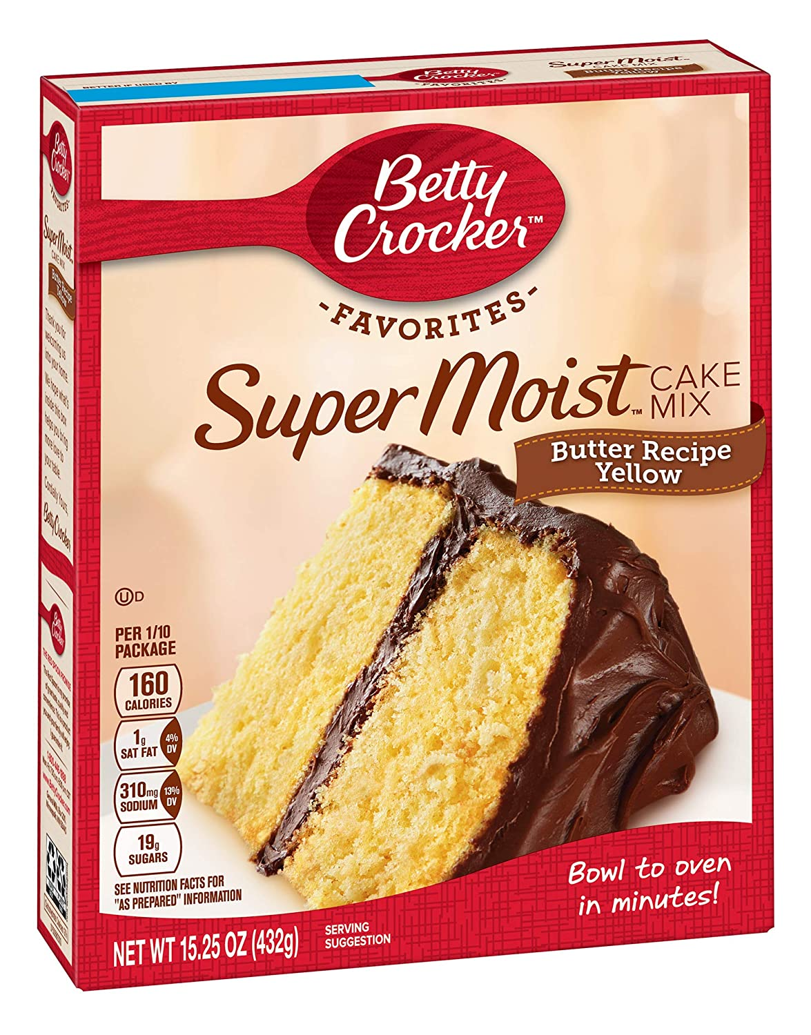 Betty Crocker Butter Recipe Yellow Cake Mix, 15.25 Ounce