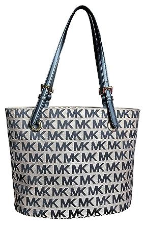 7ce3613640861f Michael Kors Black Signature Items Bag Shoulder Tote Handbag Purse:  Amazon.co.uk: Clothing