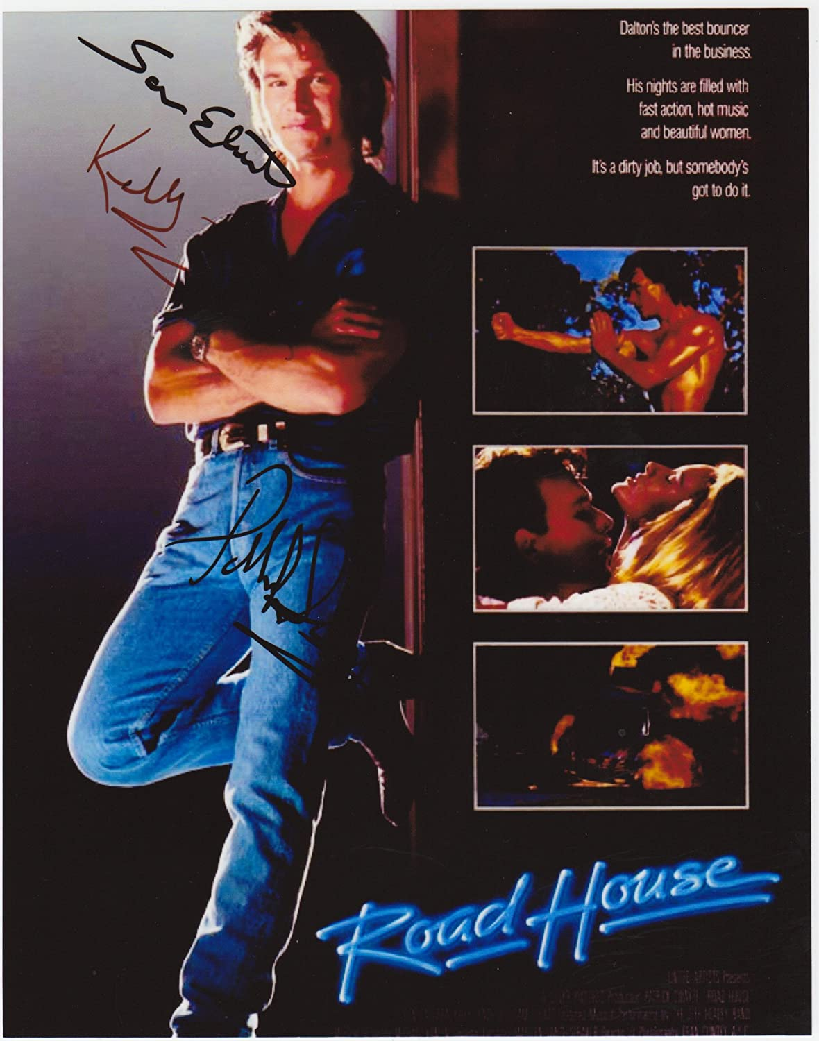 Kirkland Signature Road House 8 X 10 Movie Poster Autograph on Glossy Photo Paper
