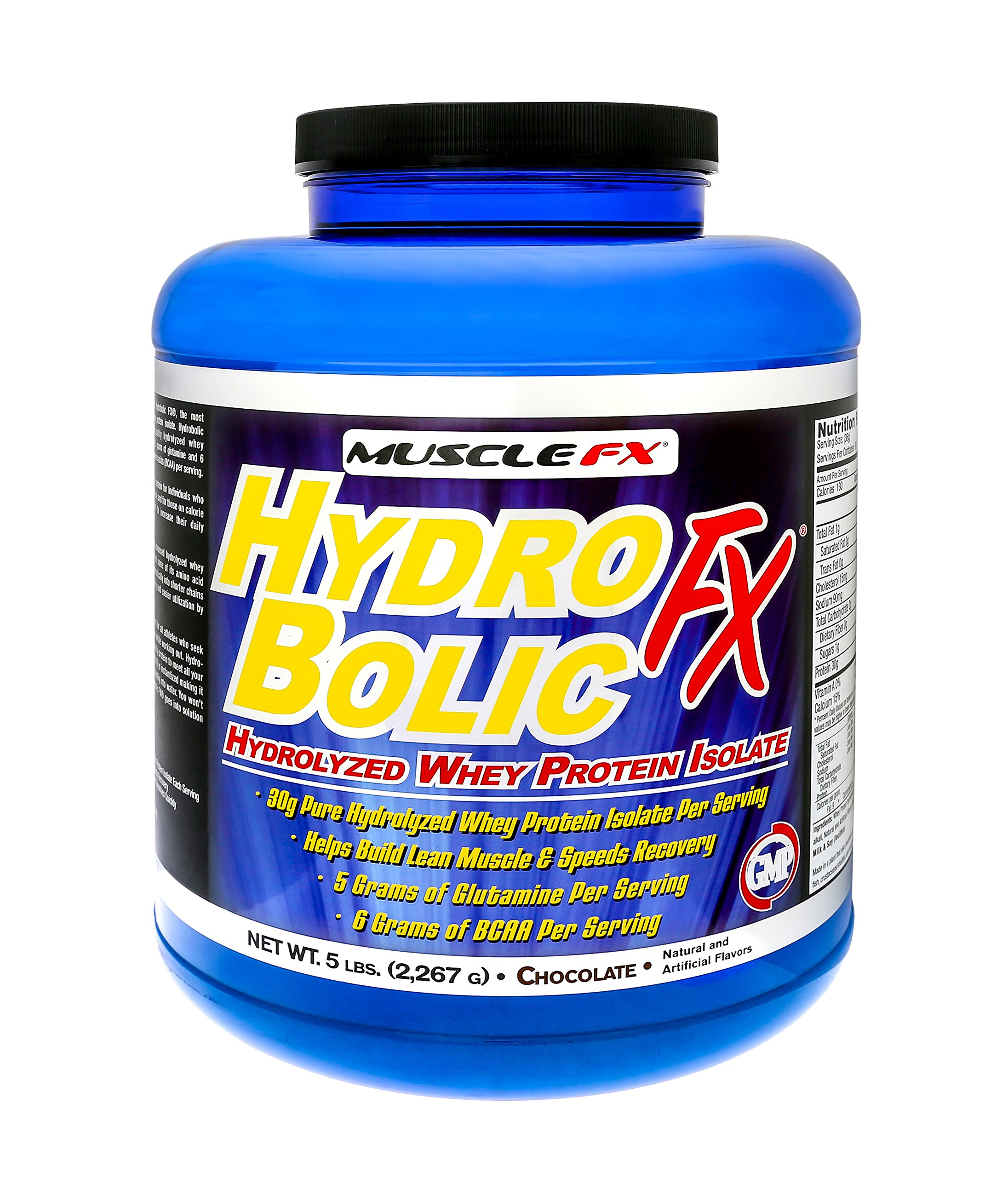 MUSCLE FX® HYDROBOLIC FX® Pure Hydrolyzed Whey Protein Isolate 5 lbs Chocolate (5 lbs)