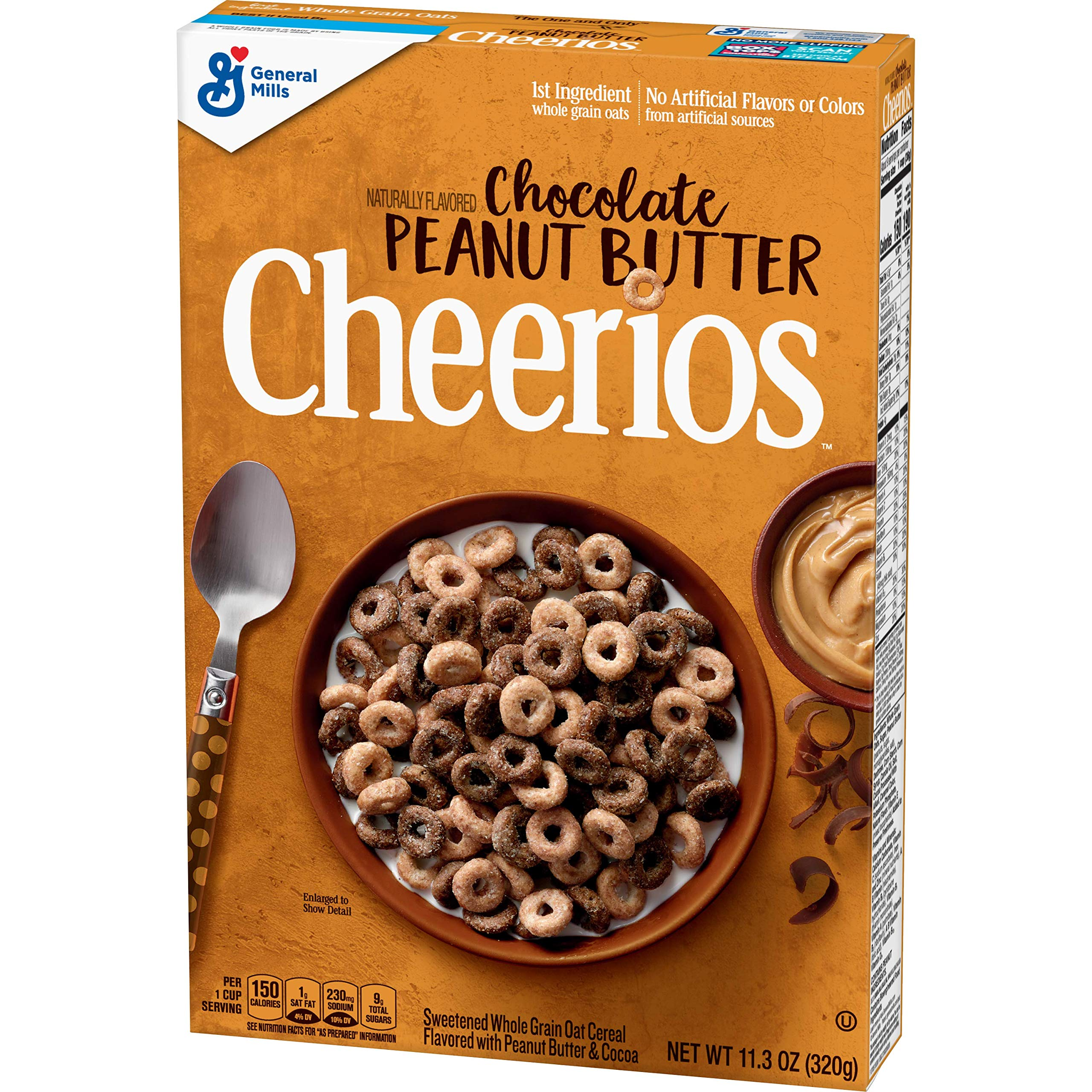 Cheerios, Cereal, Chocolate Peanut Butter, 11.3 Oz