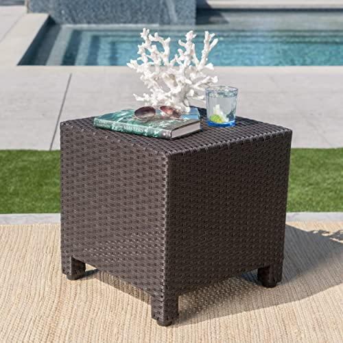 Christopher Knight Home Puerta Outdoor Wicker Side Table