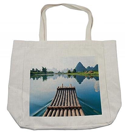 Amazon.com - Ambesonne Bamboo Shopping Bag eab4189da3b90