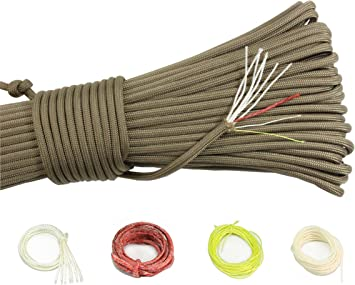 Paracorde 550 cordes multifonctions de type III corde de survie avec 7 brins de 550 kg de survie corde de survie