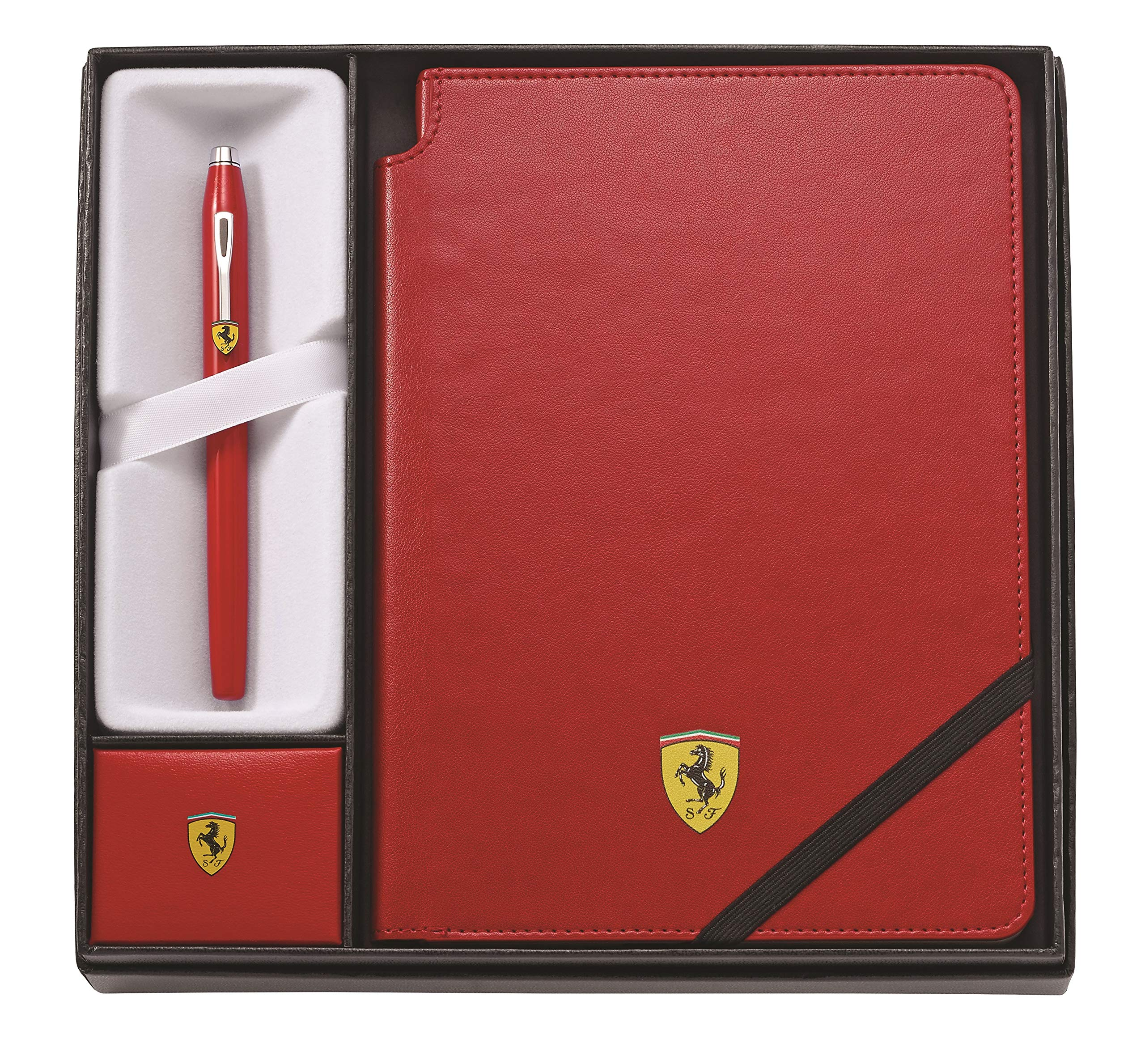Cross Century II Collection for Scuderia Ferrari - Glossy Rosso Corsa Red Lacquer Rollerball Pen & Rosso Corsa Red Medium Journal by Cross (Image #1)