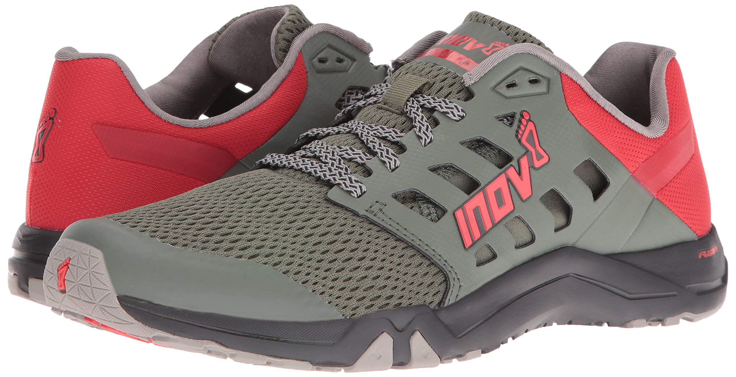 Inov-8 Men's All Train 215 Cross-Trainer Shoe, Dark Green/Red/Black, 12 D US by Inov-8 (Image #6)