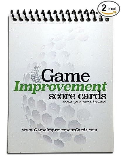 Amazon.com: Juego mejora tarjetas de puntuación (2 PK ...