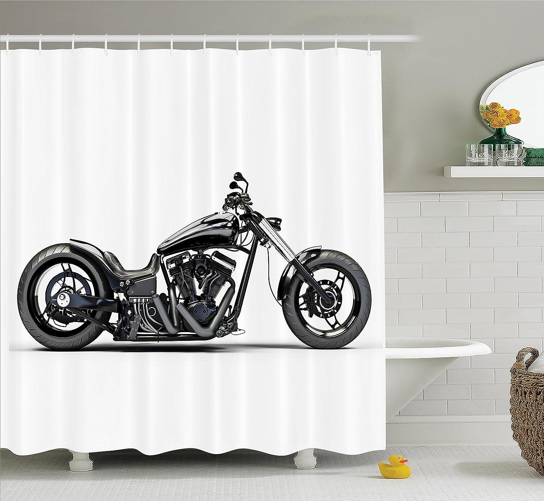 Amazon Com Ambesonne Manly Decor Shower Curtain Set Custom Made