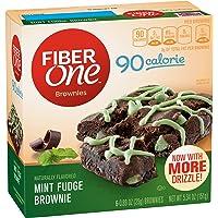 Fiber One 90 Calorie Soft-Baked Bars Mint Fudge Brownie, 6 Bars, 5.34 oz.