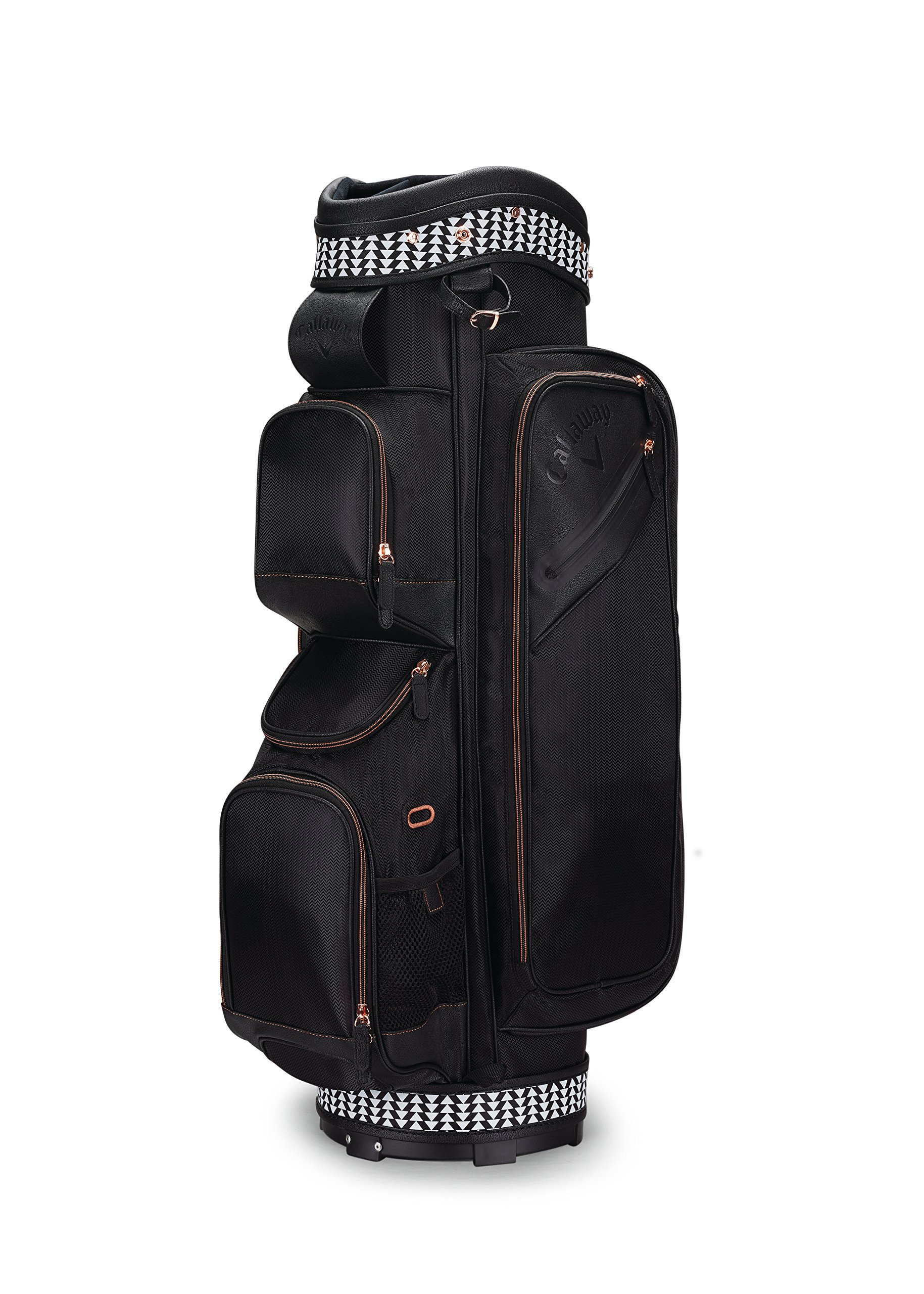 Callaway Golf Uptown Cart Bag Golf Bag Cart 2017 Uptown black/Rose Gold, Black by Callaway (Image #1)