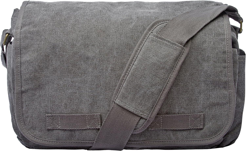 Sweetbriar Classic Messenger Bag – Vintage Canvas Shoulder Bag for All-Purpose Use