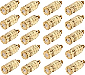 Brass Misting Nozzles, Misting System Nozzles Water Mister Nozzle Replacement for Garden, Patio, Greenhouse, 0.016