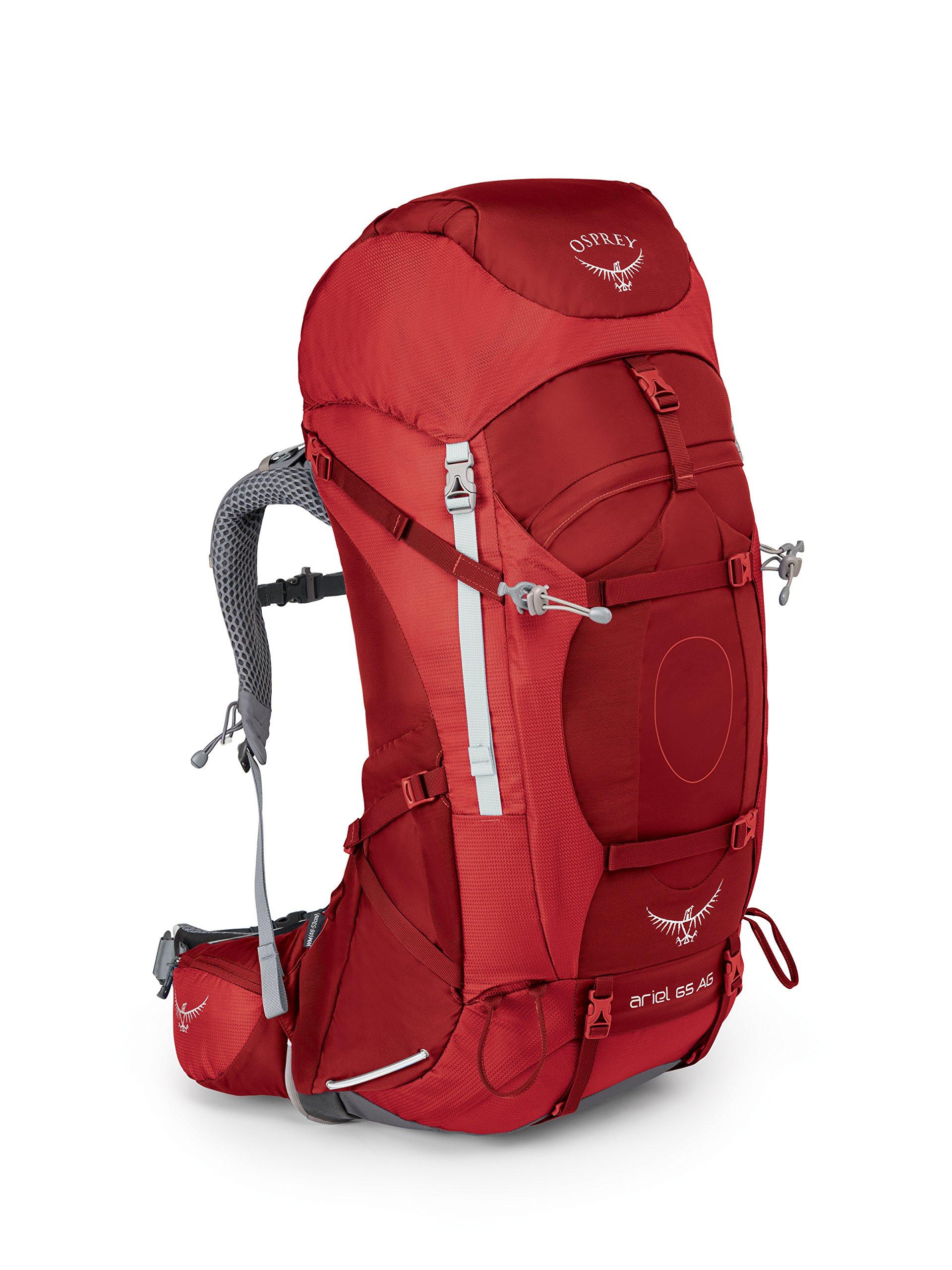 Osprey Packs Women's Ariel AG 65 Backpack, Picante Red, Medium