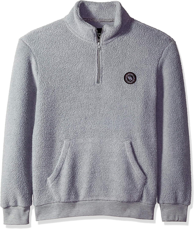 Quiksilver Men's GLONG Polar Fleece Jacket, Light Grey Heather, M: Clothing
