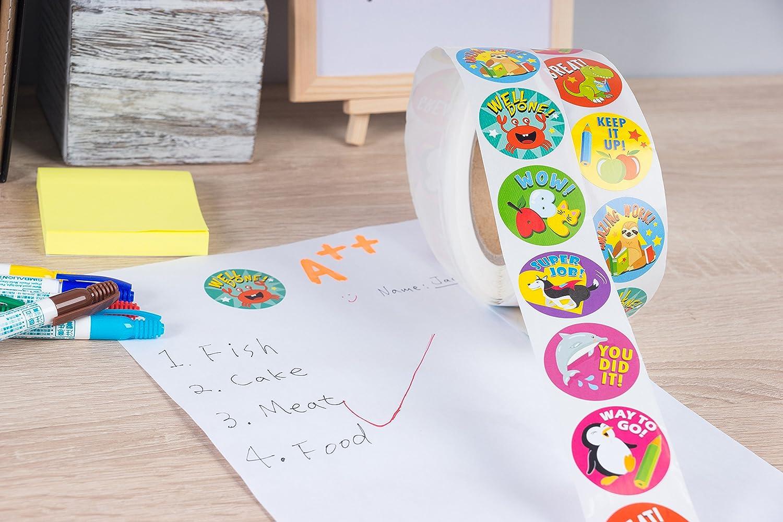 Animal Reward Sticker Roll Set 1000 Pieces Office Products Amazon Com