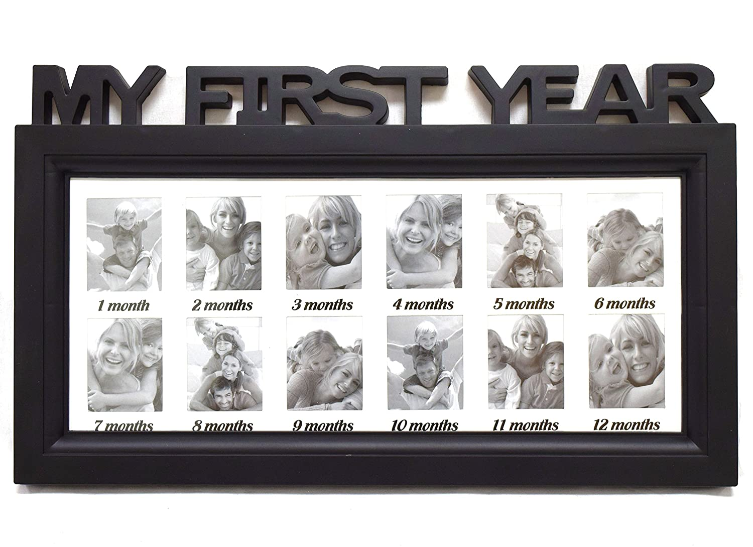 Amazon blackwhite frame babys first year timeline collage amazon blackwhite frame babys first year timeline collage picture frame colors vary baby jeuxipadfo Gallery