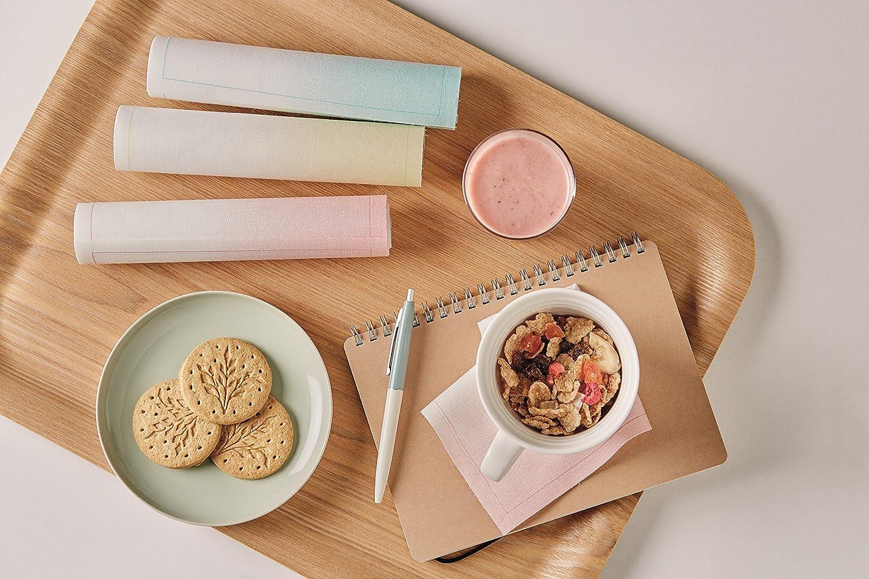 Cotone Luncheon Napkin Mydrap tovaglioli su Un Rotolo/% Cotone 20,1/cm da 20,1/cm con 25/tovaglioli per Rotolo Sand