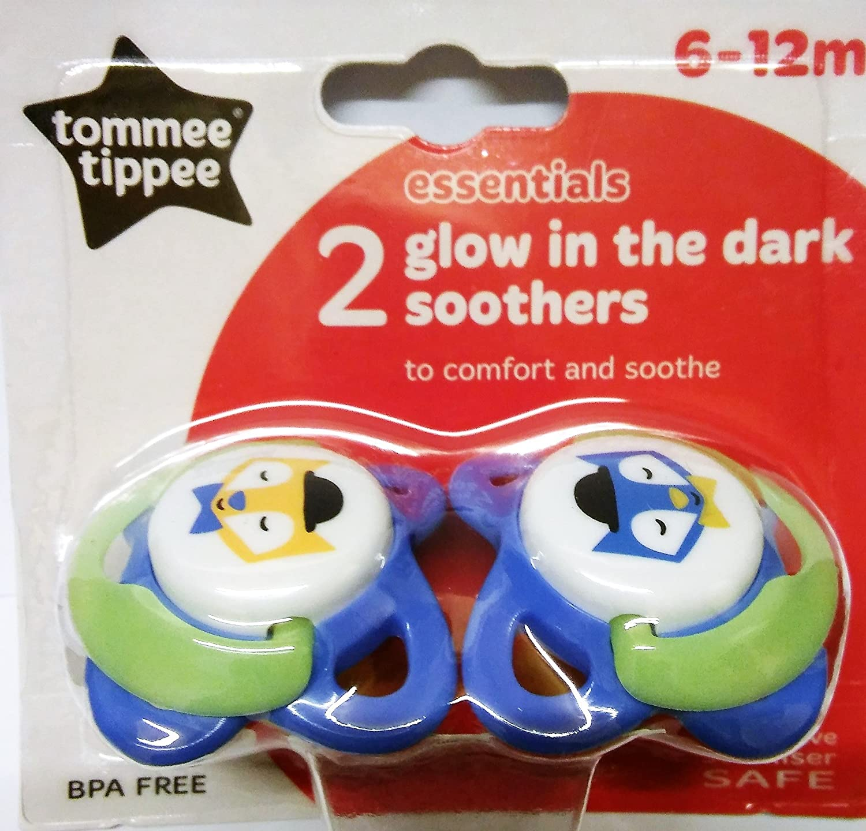 Tommee Tippee Essentials fosforescenti jóvenes 2 chupetes 6 - 12 m ...