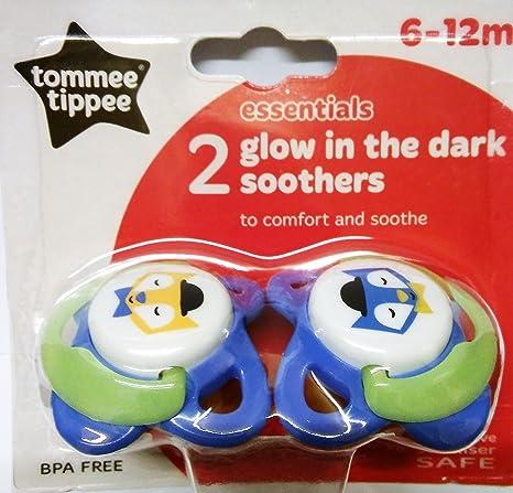 Tommee Tippee 2 paquetes brillan en la oscuridad chupetes ...