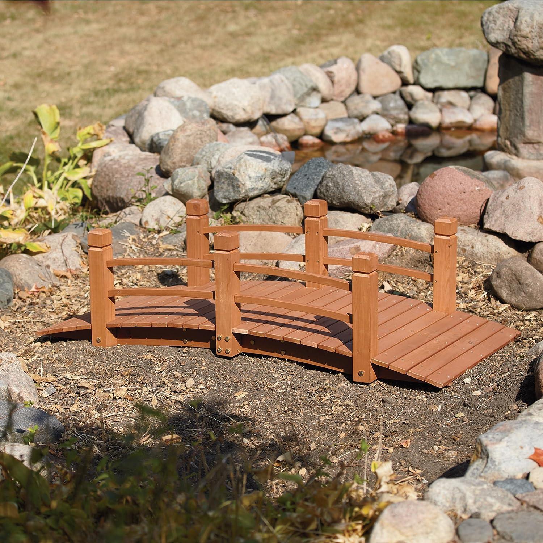 Amazon.com : Wooden Garden Bridge, Model# KMG100858 WP : Patio, Lawn U0026  Garden