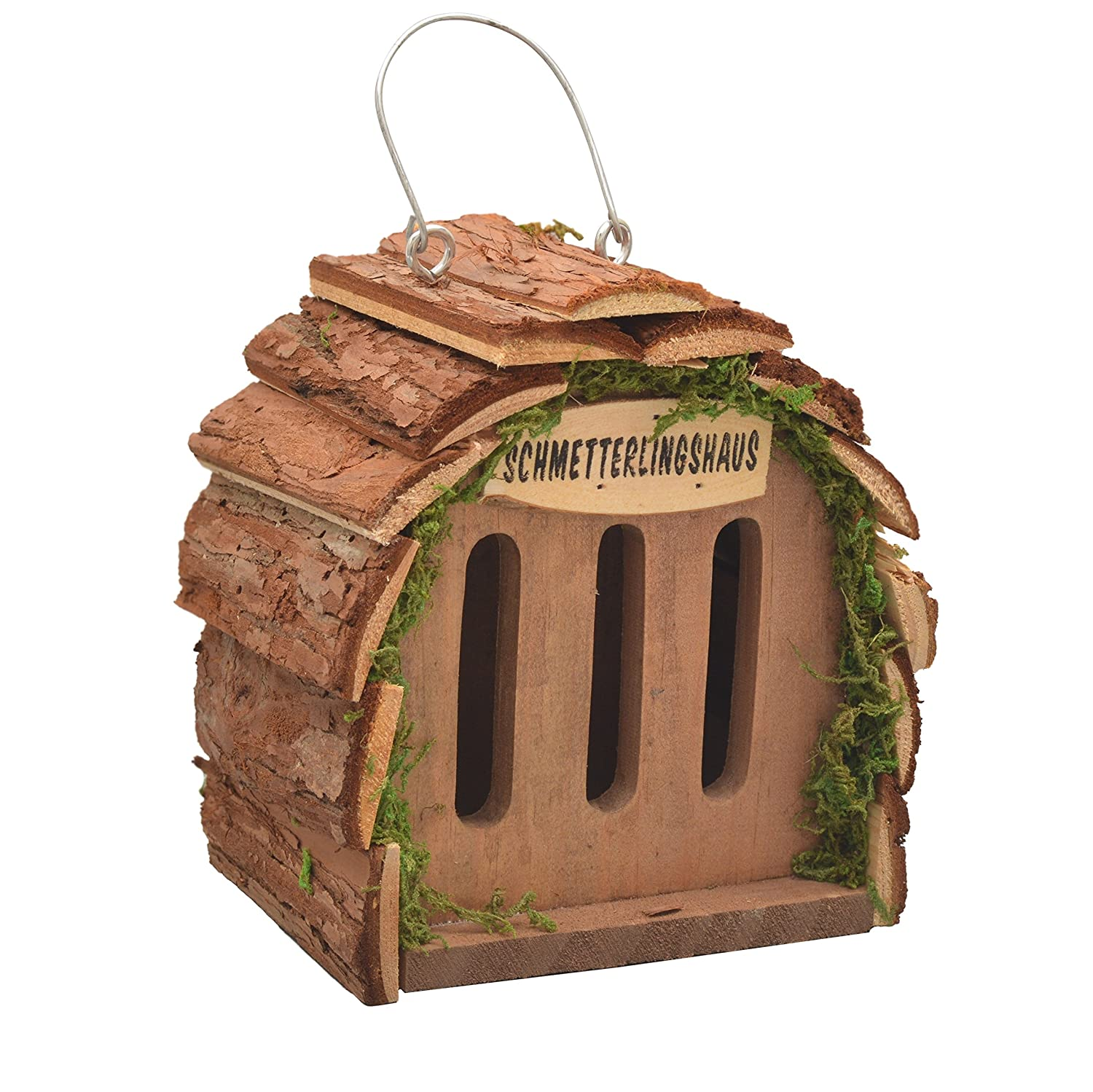 Gardigo Butterfly House for Breeding Butterflies and Garden Decoration, Natural Wood Colours
