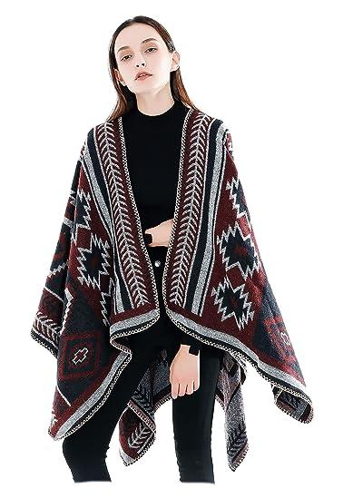 1e12d60ba87 Femme Fille Ethno Extra Large Très Épais Écharpe Wrap Châles Etole Ponchos   Amazon.fr  Vêtements et accessoires
