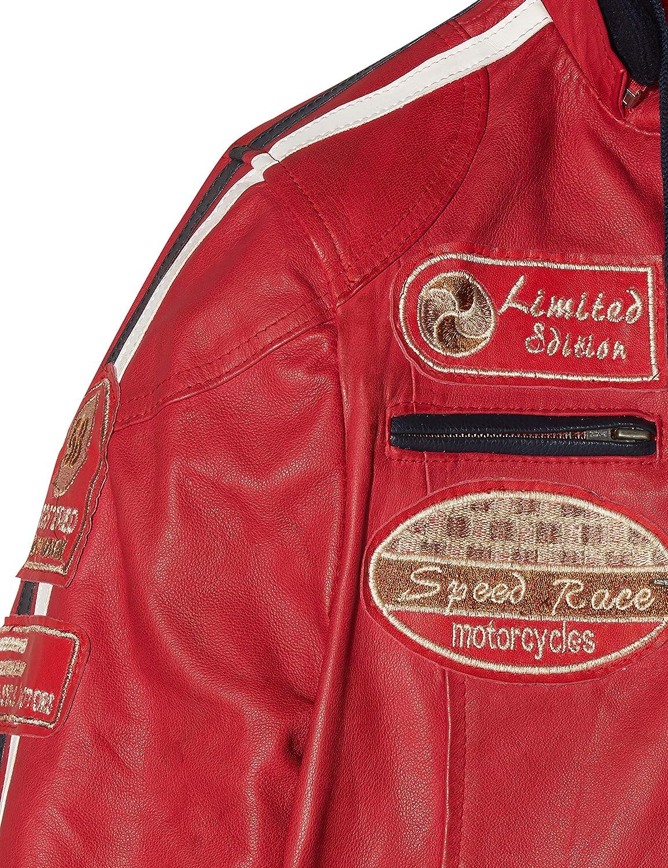 204 Michelle Fashion Giacca in Pelle da Donna Marrone Taglia S Urban Leather UR