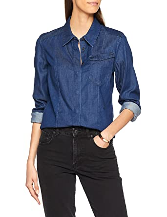wholesale dealer 94f85 8f06f G-STAR RAW Damen Hemd Tacoma Classic Shirt Wmn L/S