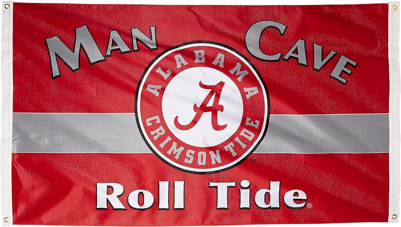 NCAA Alabama Crimson Tide Man Cave Flag with 4 Grommets (3 x 5-Feet)