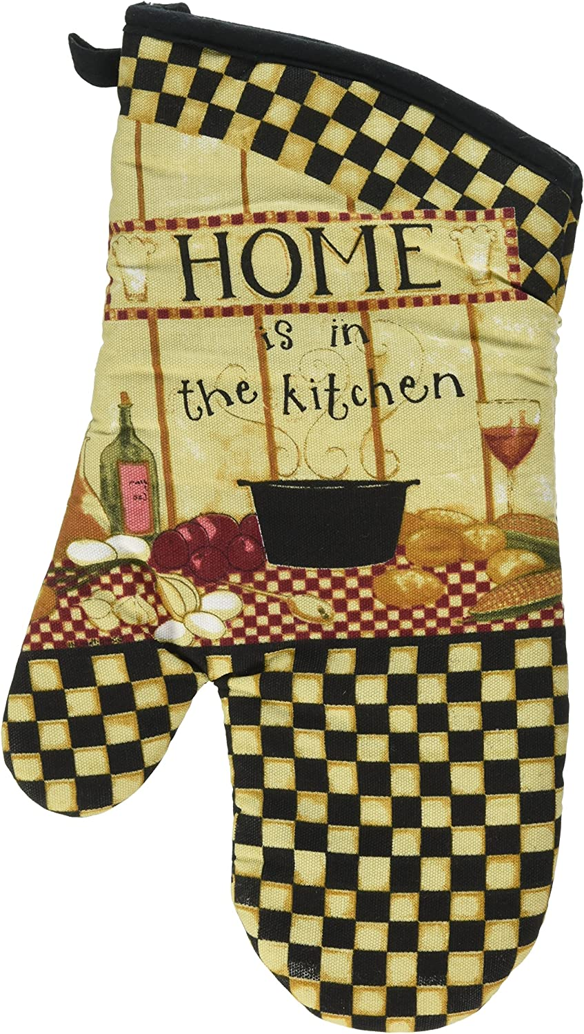 Kay Dee Designs Cotton Oven Mitt, Home is in The Kitchen