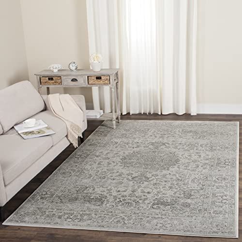 Safavieh Carnegie Collection CNG631K Vintage Cream and Dark Grey Distressed Area Rug 4 x 6
