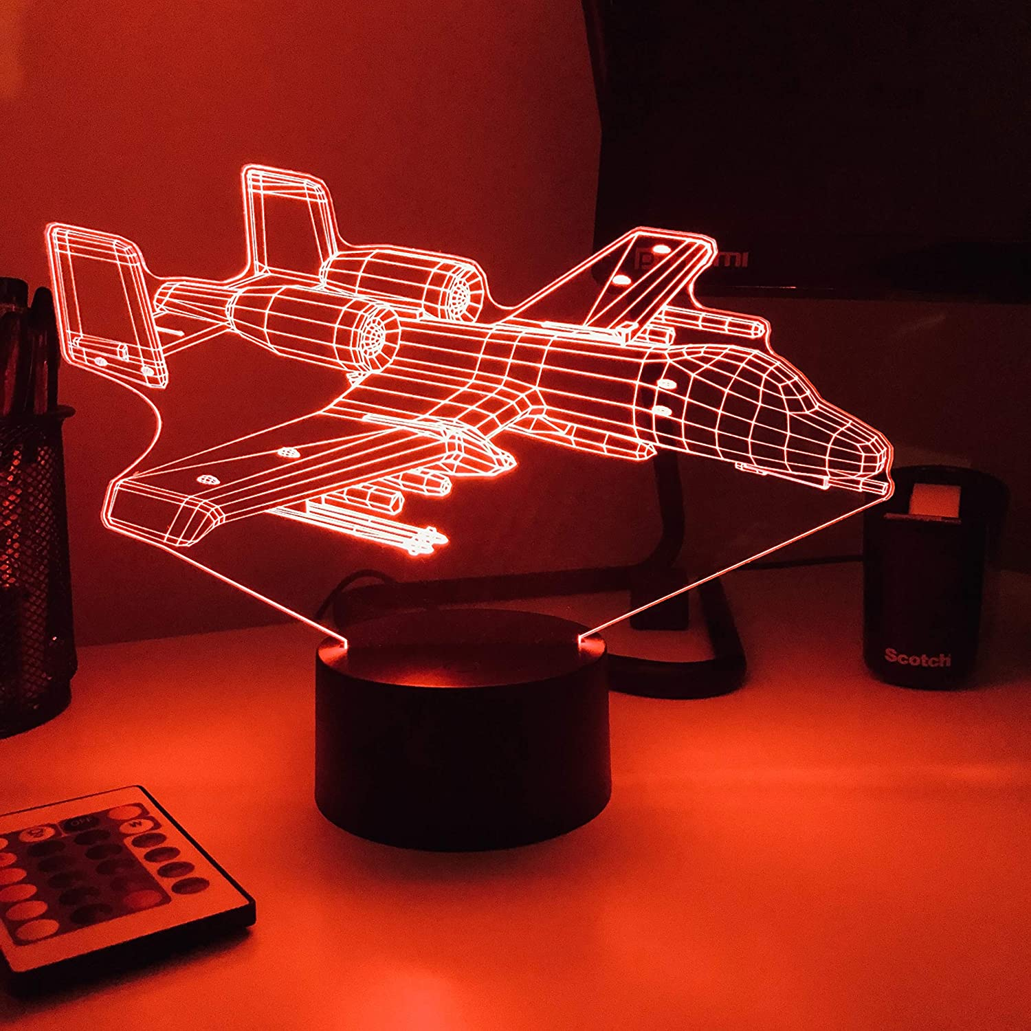 A-10 Warthog 3D Optical Illusion Lamp With Remote