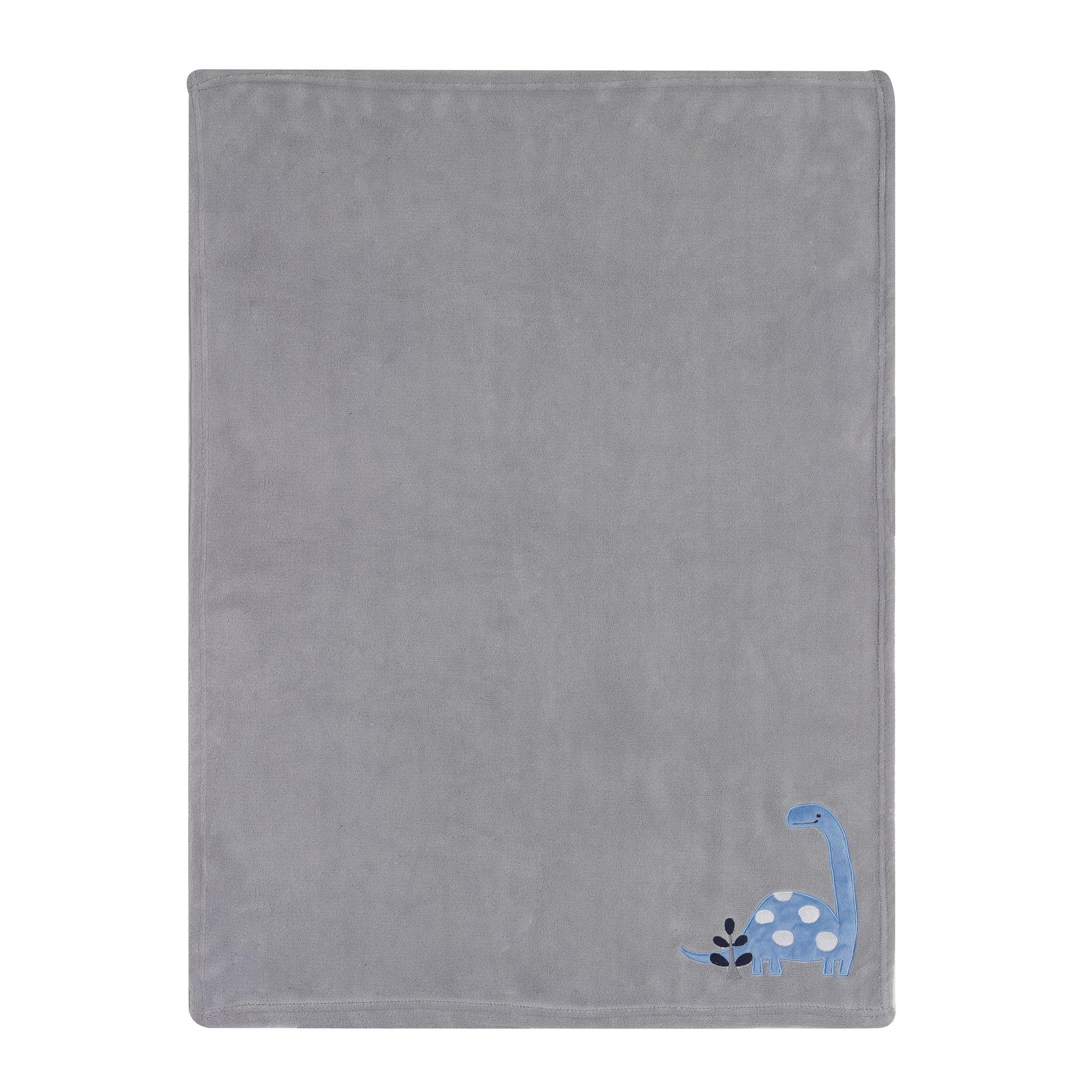 Bedtime Originals Roar Dinosaur Blanket, Blue/Gray