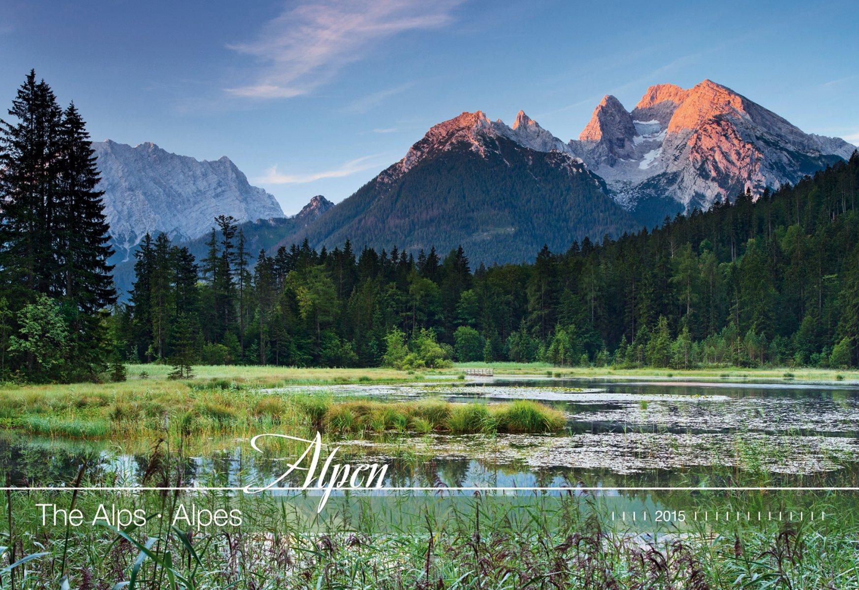 Alpen 2015 - The Alps - Bildkalender quer (50 x 34) - Landschaftskalender
