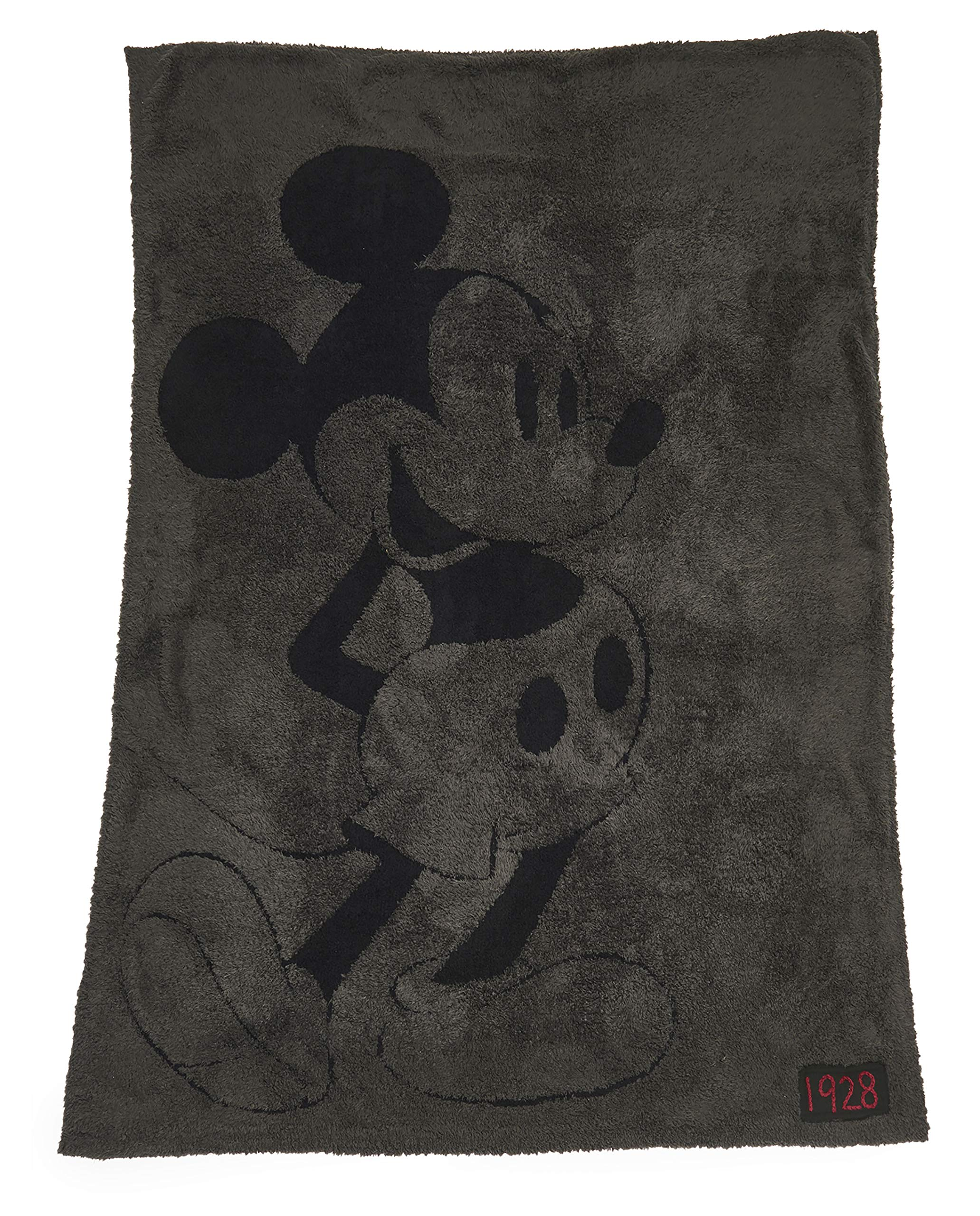 Barefoot Dreams CozyChic Classic Mickey Mouse Blanket Disney Series, Soft Throw-Carbon/Black by Barefoot Dreams