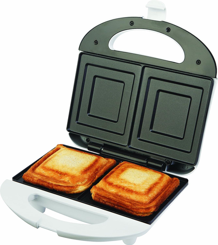 ECG S 169, Piastra per sandwich, in acciaio Inox, Bianco