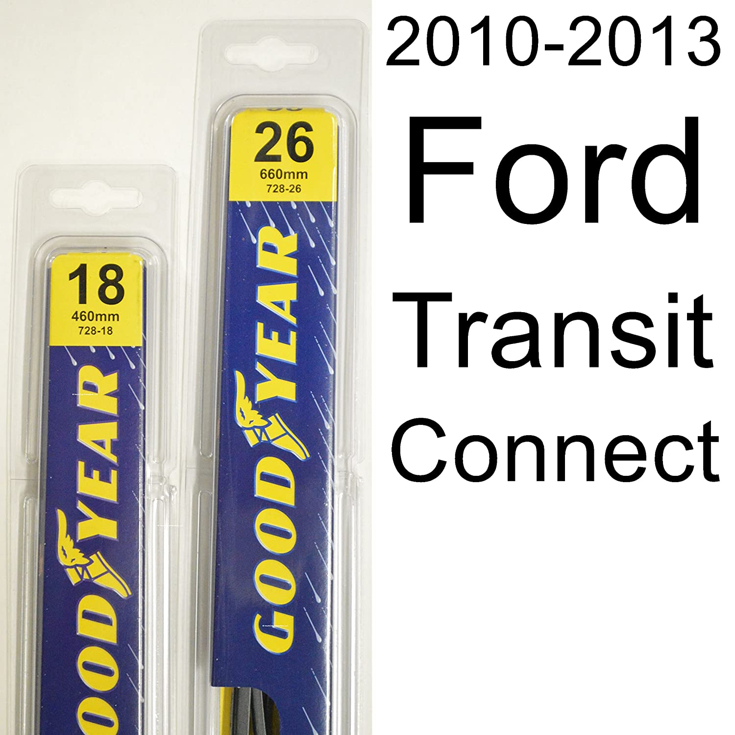 "Amazon.com: Ford Transit Connect (2010-2013) Wiper Blade Kit - Set Includes  26"" (Driver Side), 18"" (Passenger Side) (2 Blades Total): Automotive"