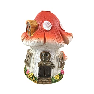 Gnome-a-Palooza Mini Fairy Garden Cottage with Mushroom Roof: Garden & Outdoor