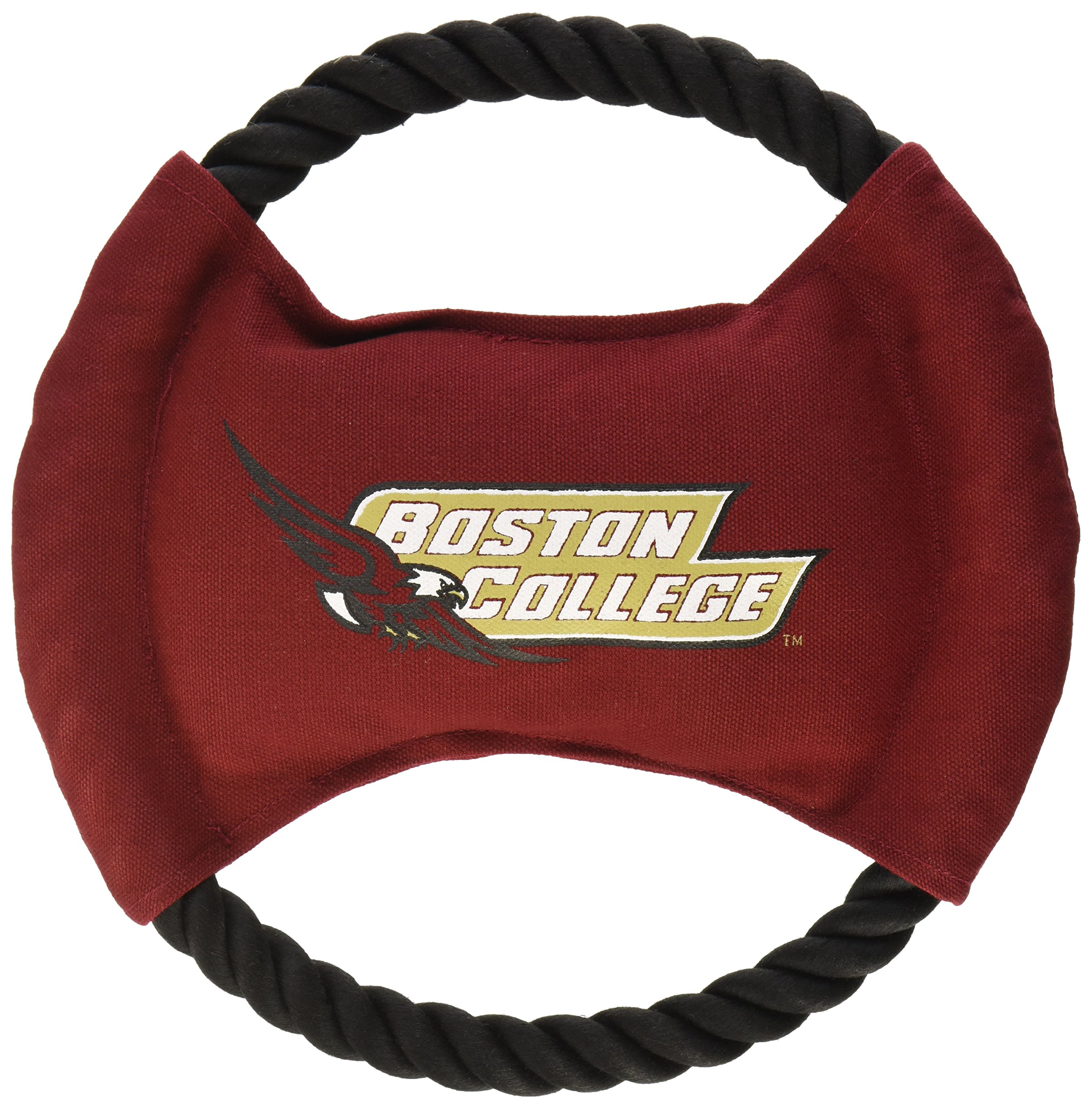 Pets First Collegiate Boston College Eagles Flying Disk Rope Dog Toy