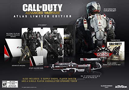 Amazon Com Call Of Duty Advanced Warfare Atlas Limited Edition Playstation 4 Call Of Duty Adv W Fare Atlas Ltd Ed Video Games
