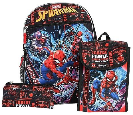 Marvel Spiderman Large Arch Black /& Red Childrens Backpack School Bag Rucksack