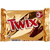 Twix Paquet de 3 barres chocolatées 150 g