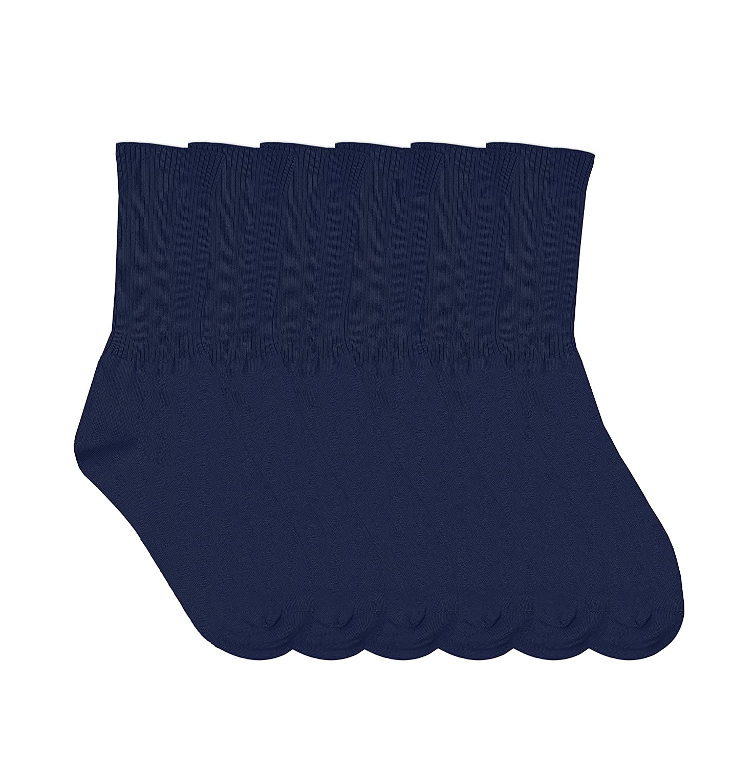 Jefferies Socks Boys Seamless School Uniform Rib Crew Socks 6 Pair Pack