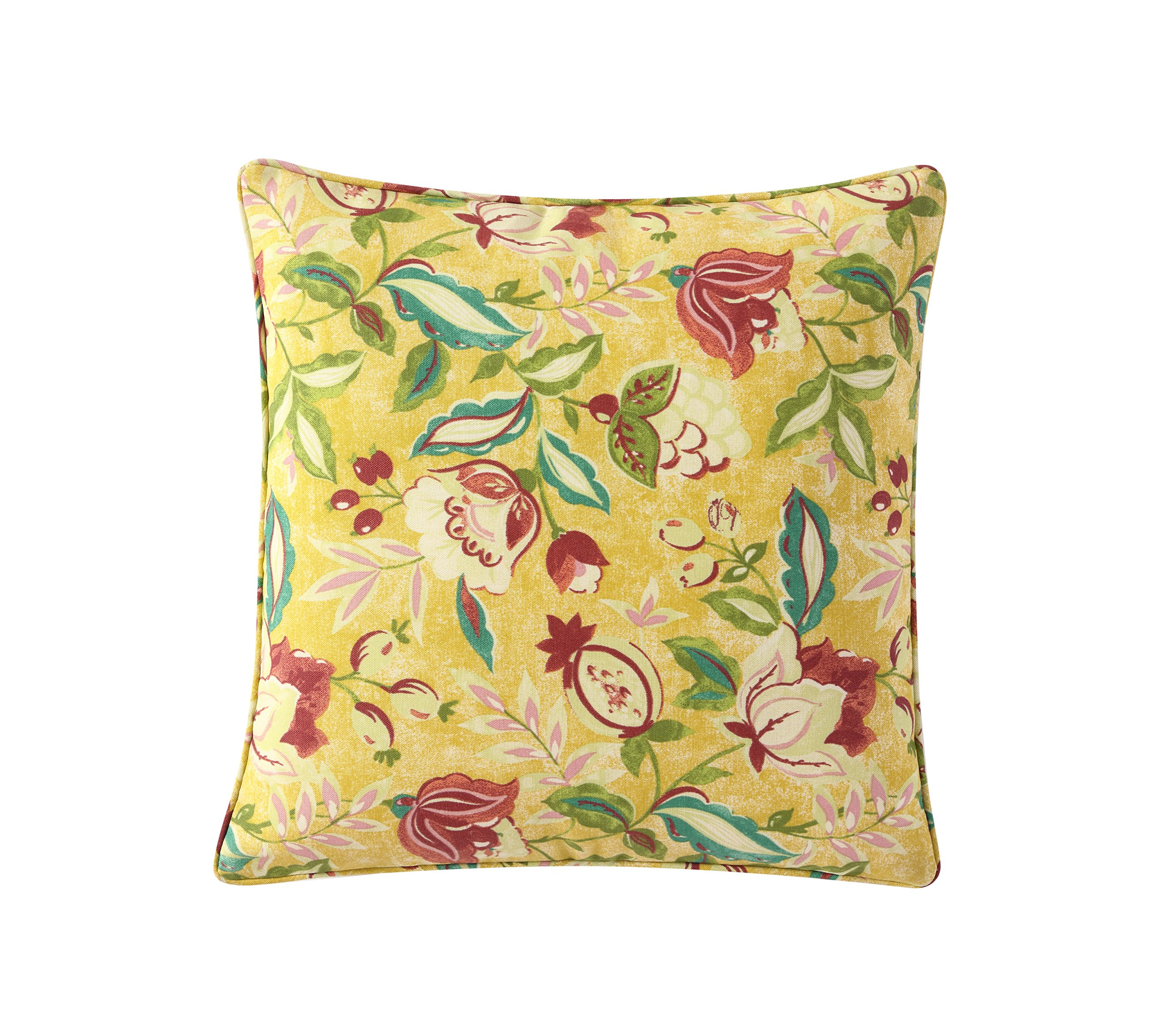 WAVERLY Indoor/Outdoor Decorative Throw Cushion – 17 x 17 Inches, FILLING INCLUDED, Available in Many Designs, Comfortable and Durable (Mod Poetry) - UV RESISTANT: The Waverly collection of outdoor cushions is made of 100% polyester UV resistant fabric. WATER REPELLENT: Made to withstand the outdoors, the water repellant fabric will not soak up from spills. FILLING INCLUDED: Throw pillows are shipped with the filling included. Notice: Due to vacuum package, the pillow comes in compressed form, it will take 1-2 days to fully expand. - patio, outdoor-throw-pillows, outdoor-decor - 91QxltS sHL -