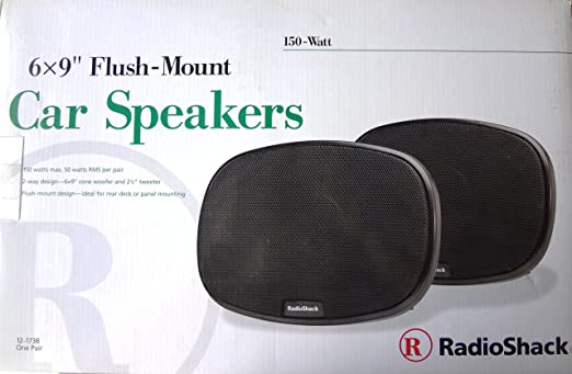 speakers radio shack. amazon.com: new radioshack 150 watts flush mount speakers (set of 2): car electronics radio shack